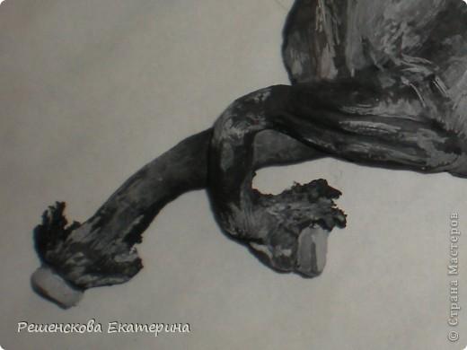 Картина, панно, Мастер-класс, Рисование и живопись, : Чёрный конь. Соленое тесто. Гуашь, Клей, Материал природный . Фото 5