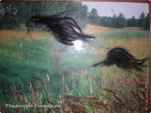 Картина, панно, Мастер-класс, Рисование и живопись, : Чёрный конь. Соленое тесто. Гуашь, Клей, Материал природный . Фото 13