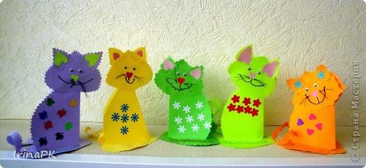 Поделка, изделие Бумагопластика: Котики из сердечек. Бумага Валентинов день. Фото 10