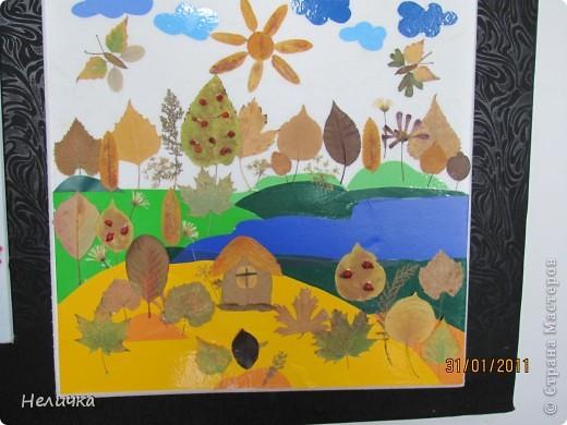 Внеклассная работа, Картина, панно, рисунок Аппликация: Дары осени