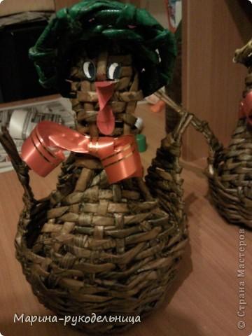 Мастер-класс,  Плетение, : Курочка к Пасхе МК Бумага газетная Пасха, . Фото 1