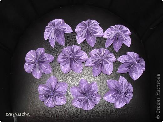 Мастер-класс, Оригами из кругов, : Мои цветочки Бумага День матери, День рождения, . Фото 2