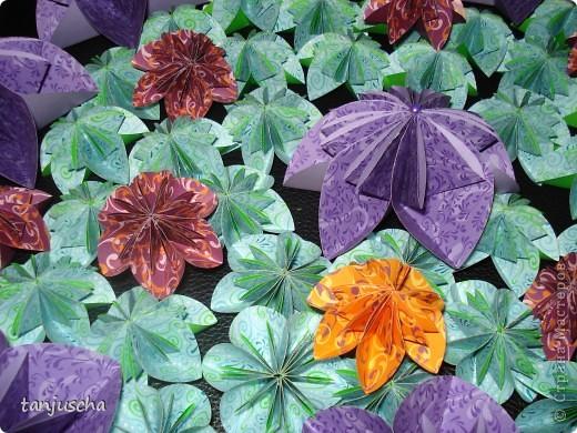 Мастер-класс, Оригами из кругов, : Мои цветочки Бумага День матери, День рождения, . Фото 1