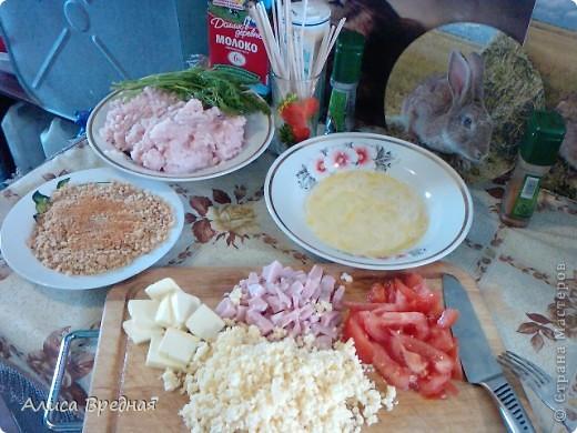Кулинария, Мастер-класс, Рецепт кулинарный, : Фаршированные куриные котлетки на шпажке)))) Продукты пищевые . Фото 7
