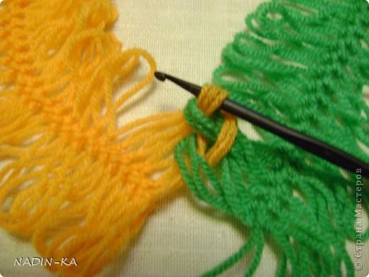 Гардероб, Мастер-класс,  Вязание, Вязание крючком, : МК вязание на вилке. 1 Нитки, Пряжа . Фото 10