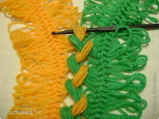 Гардероб, Мастер-класс,  Вязание, Вязание крючком, : МК вязание на вилке. 1 Нитки, Пряжа . Фото 12