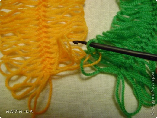 Гардероб, Мастер-класс,  Вязание, Вязание крючком, : МК вязание на вилке. 1 Нитки, Пряжа . Фото 5