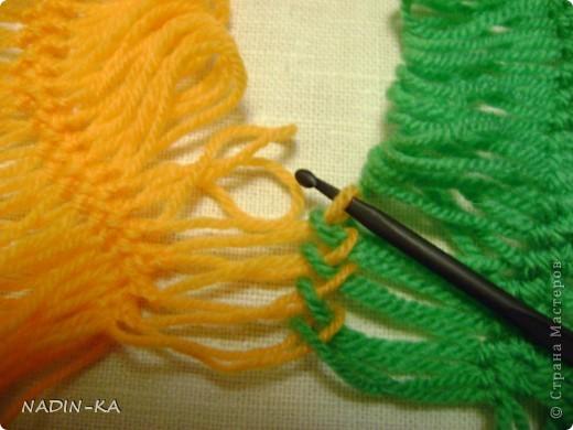 Гардероб, Мастер-класс,  Вязание, Вязание крючком, : МК вязание на вилке. 1 Нитки, Пряжа . Фото 6