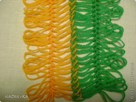 Гардероб, Мастер-класс,  Вязание, Вязание крючком, : МК вязание на вилке. 1 Нитки, Пряжа . Фото 7