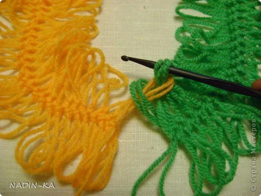 Гардероб, Мастер-класс,  Вязание, Вязание крючком, : МК вязание на вилке. 1 Нитки, Пряжа . Фото 9