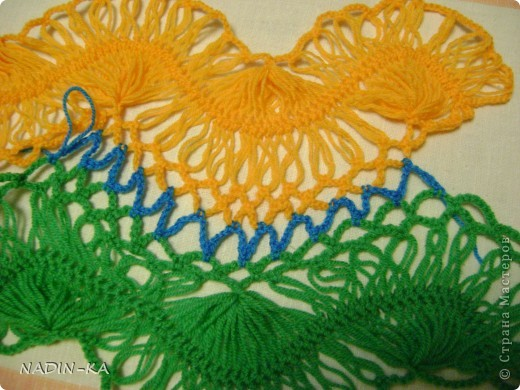 Гардероб, Мастер-класс,  Вязание, Вязание крючком, : МК вязание на вилке. 1 Нитки, Пряжа . Фото 20