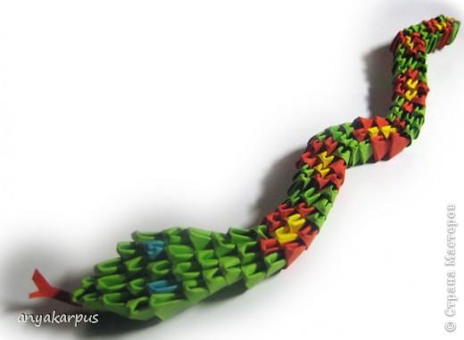 Мастер-класс, Поделка, изделие Оригами модульное: Змейка+схема Бумага...
