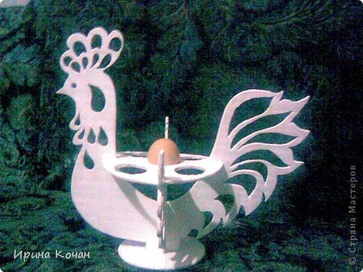 Поделка, изделие Вырезание: петушок для пасхальных яиц Пенопласт Пасха. Фото 1