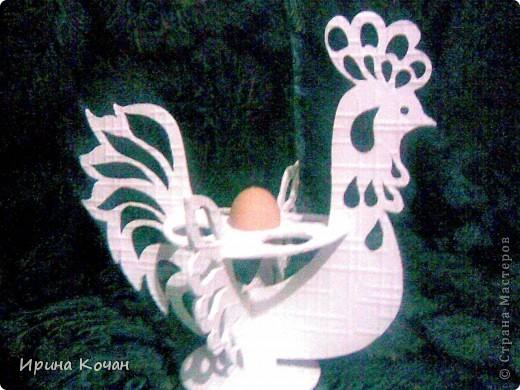 Поделка, изделие Вырезание: петушок для пасхальных яиц Пенопласт Пасха. Фото 2
