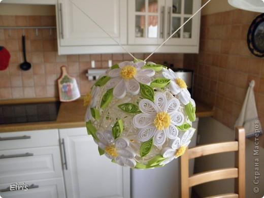 Поделка, изделие Квиллинг:  Мой первый шар в технике квиллинг Бумага. Фото 4