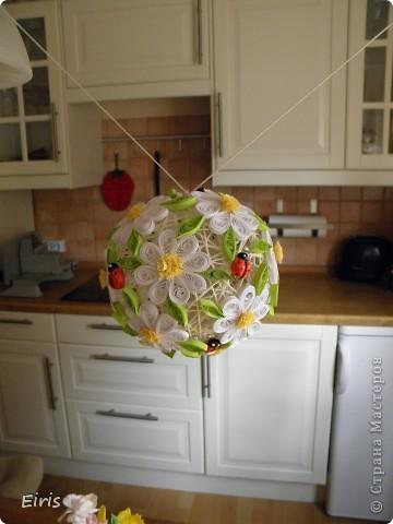 Поделка, изделие Квиллинг:  Мой первый шар в технике квиллинг Бумага. Фото 3