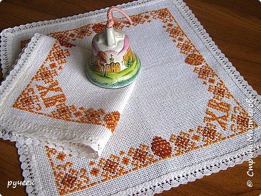 Салфетки из канвы вышивка крестиком
