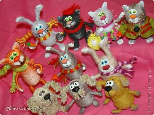 Игрушка, Мастер-класс Моделирование: Мои игрушечки-шерстянушечки Клей, Нитки, Пластика, Проволока. Фото 6