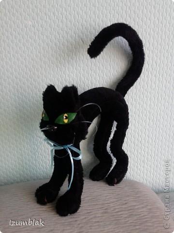 Мастер-класс Шитьё: Выкройка черного кота Мех, Проволока. Фото 1