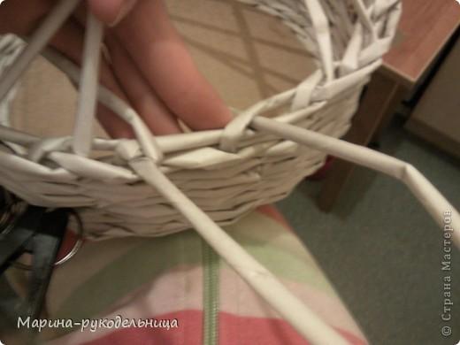 Мастер-класс Плетение: Обработка края - очень легко!!! Бумага газетная. Фото 6