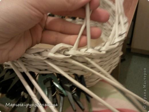 Мастер-класс Плетение: Обработка края - очень легко!!! Бумага газетная. Фото 7