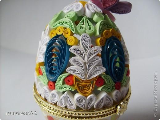 Поделка, изделие Квиллинг: Яйцо-шкатулка. Бумага Пасха. Фото 7