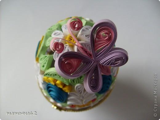 Поделка, изделие Квиллинг: Яйцо-шкатулка. Бумага Пасха. Фото 5