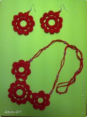Украшение Вязание крючком: украшение крючком Нитки.  Фото 5.