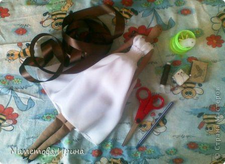 Куклы, Мастер-класс Шитьё: Мастер класс прическа для куклы Ленты, Нитки. Фото 2