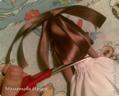 Куклы, Мастер-класс Шитьё: Мастер класс прическа для куклы Ленты, Нитки. Фото 10