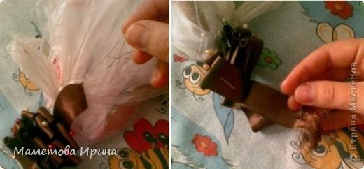 Куклы, Мастер-класс Шитьё: Мастер класс прическа для куклы Ленты, Нитки. Фото 13