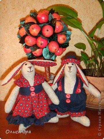 """Знакомьтесь...Это Юнона и Авось...""""сладкая парочка""""... Никакого отношения к героям одноименной оперы они не имеют... Расставаться зайки не собираются, потому что только недавно """"нашли друг друга""""... Просто, мне захотелось назвать их так.... Фото 36"""