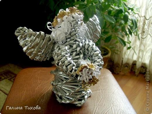 Мастер-класс Бумагопластика: «Ангел из газетных трубочек» Мастер-класс. Бумага газетная. Фото 1