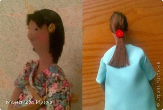 Куклы, Мастер-класс Шитьё: Мастер класс прическа для куклы Ленты, Нитки. Фото 15