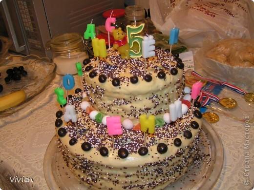 Кулинария Рецепт кулинарный: Тортик с безвредной мастикой-) Продукты пищевые День рождения. Фото 1