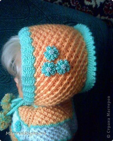 Гардероб Вязание спицами: Шапочка для малышки Пряжа.