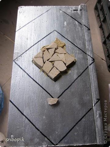 за основу взят мебельный щит (2шт), размером 80*20, толщина - 1,5-2 см. Фото 11