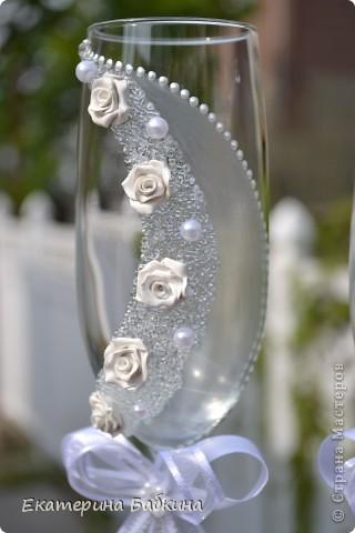 """Мастер-класс,  Аппликация, Моделирование, : Свадебные бокалы """"Летний ветерок"""" Свадьба, . Фото 8"""