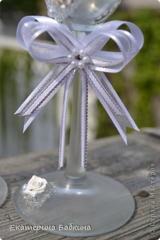 """Мастер-класс,  Аппликация, Моделирование, : Свадебные бокалы """"Летний ветерок"""" Свадьба, . Фото 7"""