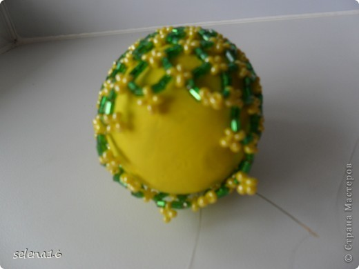 Мастер-класс Бисероплетение: МК по плетению сетки для пасхальных яичек  Бисер Пасха. Фото 14