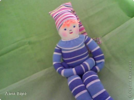 Куклы, Шитьё, : ПОЛОСАТИК-2 из гольфа Носки Дебют, . Фото 1