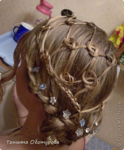 Прическа Плетение: Праздничные прически на длинных волосах Ленты. Фото 1