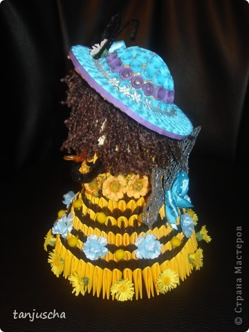 Поделка, изделие Оригами модульное: Пчёлка .Авторская работа Бумага День рождения. Фото 4