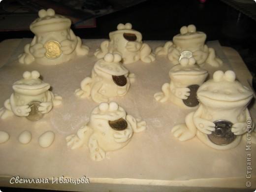 Поделка, изделие Лепка: Лягушки Тесто соленое. Фото 9