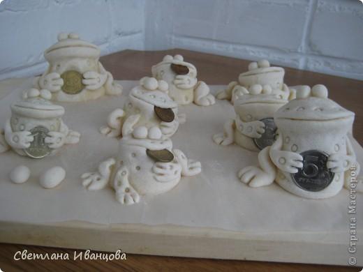 Поделка, изделие Лепка: Лягушки Тесто соленое. Фото 3