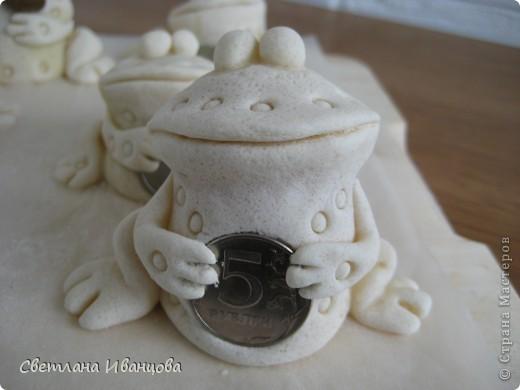 Поделка, изделие Лепка: Лягушки Тесто соленое. Фото 8