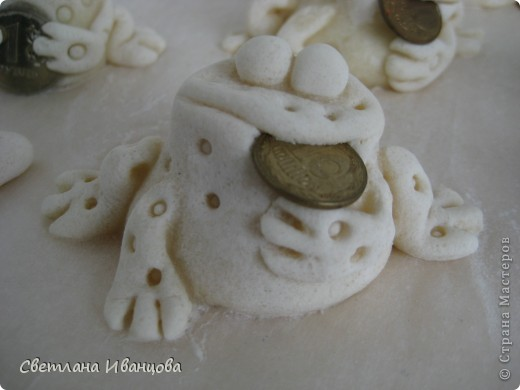 Поделка, изделие Лепка: Лягушки Тесто соленое. Фото 7