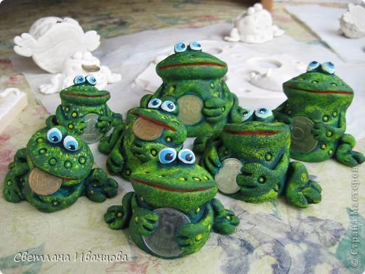 Поделка, изделие Лепка: Лягушки Тесто соленое. Фото 10