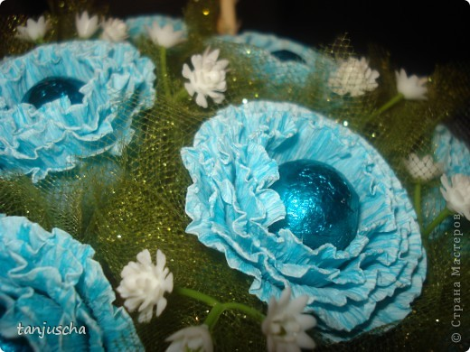 Свит-дизайн Бумагопластика: Мой первый букетик Бумага гофрированная 8 марта, День матери, День рождения. Фото 5