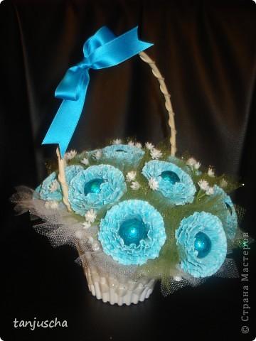 Свит-дизайн Бумагопластика: Мой первый букетик Бумага гофрированная 8 марта, День матери, День рождения. Фото 1